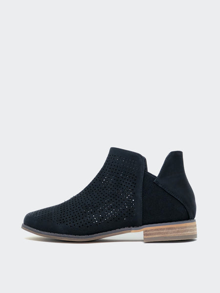Faxon - Black ladies ankle boots by Step on Air