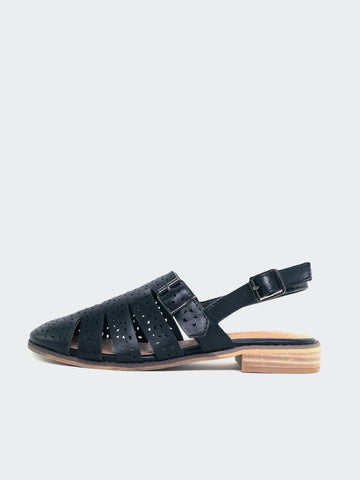 Flicker- Black Ladies Comfort Sandal by Step on Air