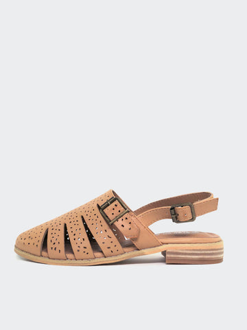 Flicker- Tan Ladies Comfort Sandal by Step on Air