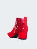 Hesta - Red Stylish Ankle Boot By Step On Air