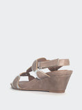 Holiday - Taupe Comfortable Wedge Sandal By Step On Air