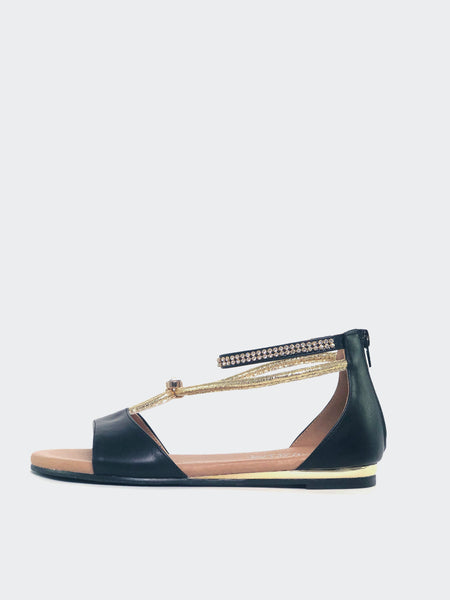 Medusa - Black Sandal By Step On Air
