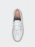 Mercy - White Leather Stylish Comfort Shoe By By Step On Air