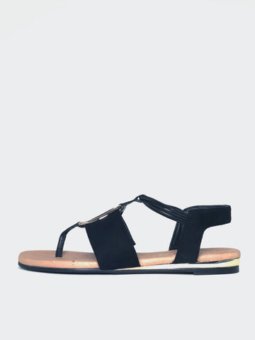 Musk - Comfortable Black Sandal By Step On Air
