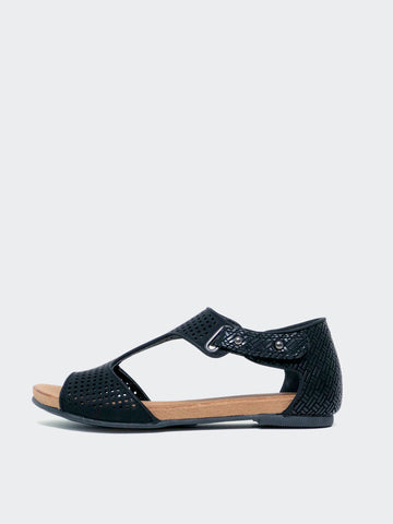 New Avery - Black Comfort Sandal by Step On Air