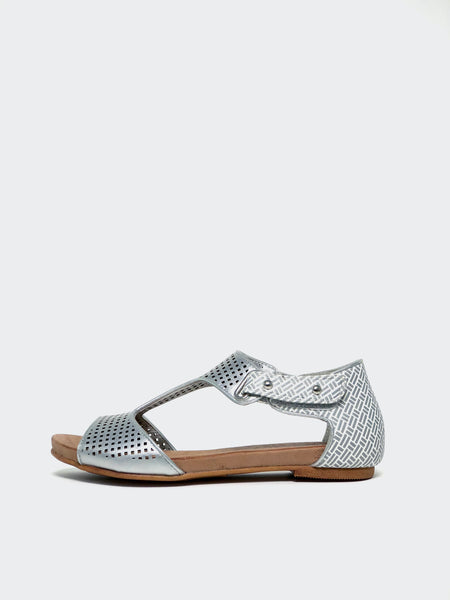 New Avery - Silver Comfort Sandal by Step on Air