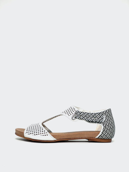 New Avery - White Comfort Sandal by Step on Air