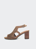 New Sophia - Taupe Block Heel Sandal by Step On Air