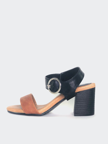 Nixon - Black Comfort Block Heel Sandal By Step On Air