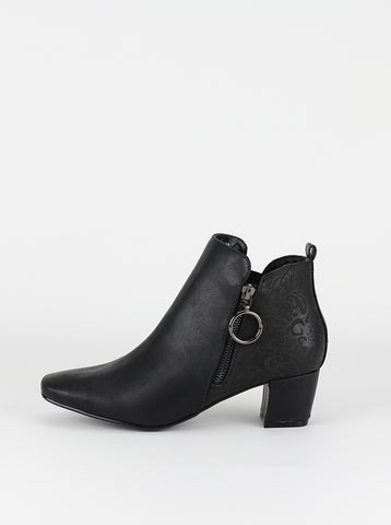 New Hesta black heeled ladies comfort ankle boots