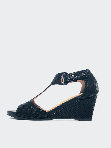 Padano - Comfortable Black Wedges By Step On Air