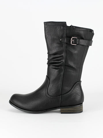 Ryder - Black Ladies Comfort boot by Step on Air