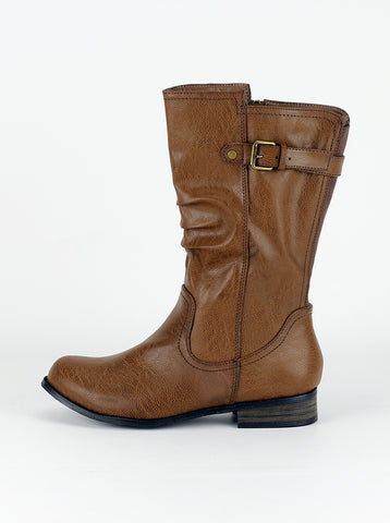 Ryder - Dark Tan Ladies Comfort boot by Step on Air