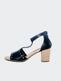 Scali - Black Comfort Block Heel Sandal by Step On Air