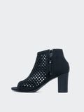 Siesta - Black Open Toe Boot by Step On Air