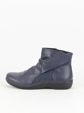 Saturn - Navy Comfort Ankle Boot by Step on Air