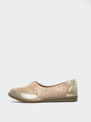 Taylah - Beige Flat Comfort Shoe by Step on Air