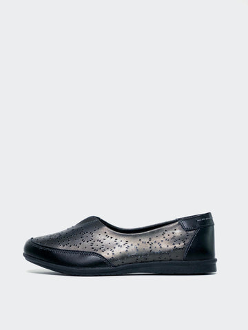 Taylah - Gunmetal Flat Comfort Shoe by Step on Air