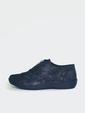 Vera - Black Stylish Comfort Shoes by Step On Air