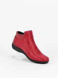 Valore - Red leather ankle boot by Step on Air