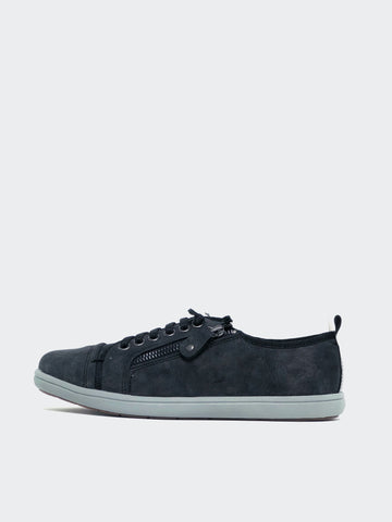 Zappo - Black Casual Comfort Sneaker by Step on Air