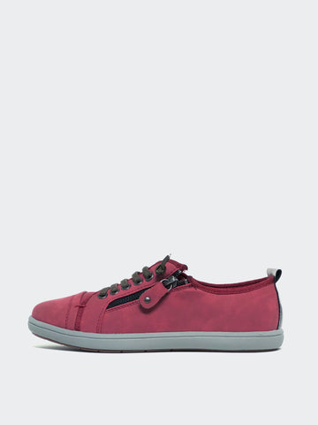 Zappo - Red Casual Comfort Sneaker by Step on Air