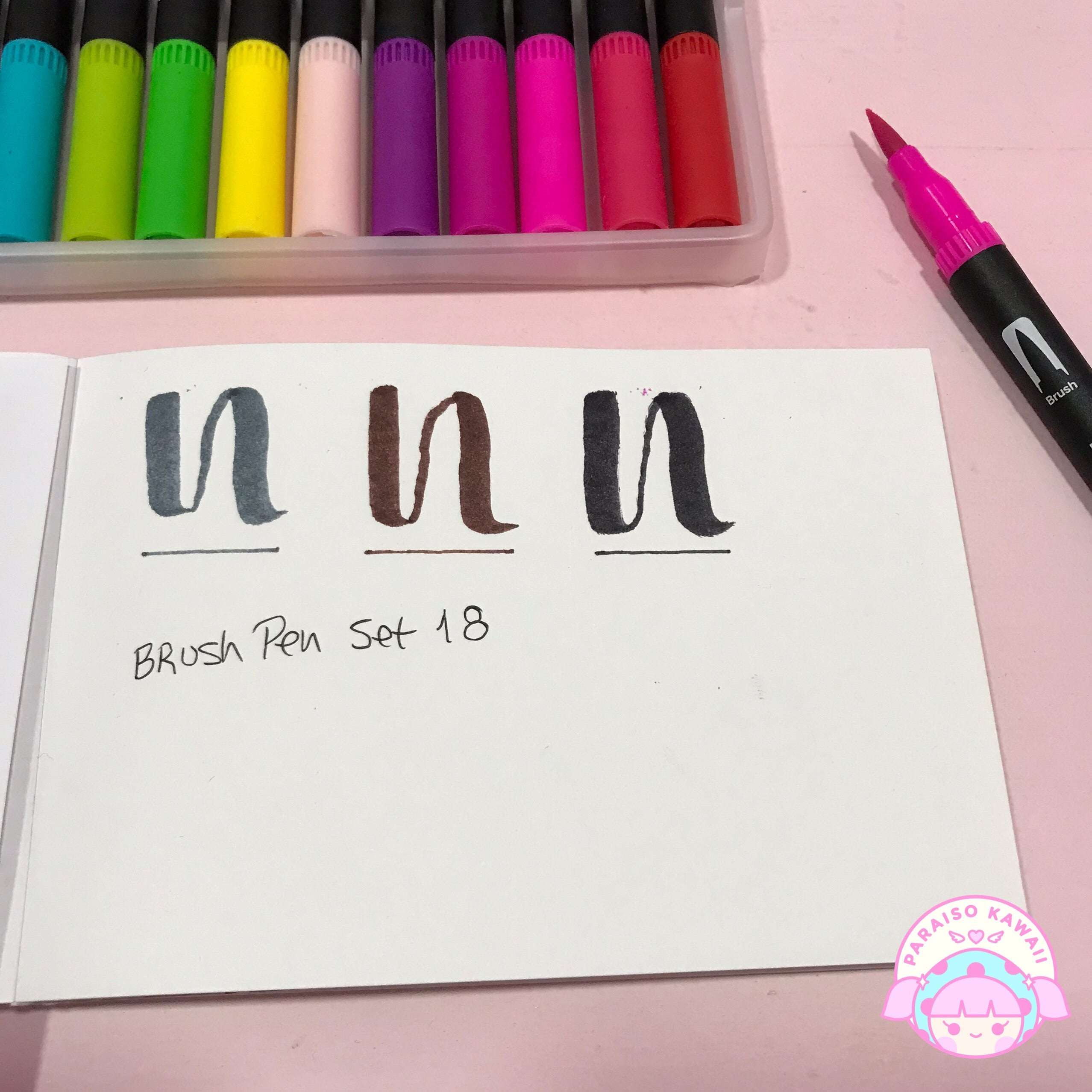 Dual Brush Pen Set de 18