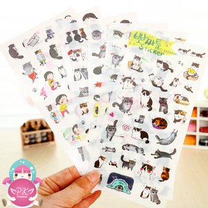Sticker Set Gato Ppozzatoon