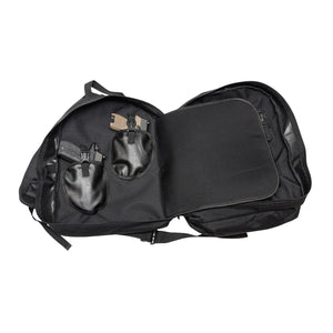 Black Sling Range Backpack Inside One View