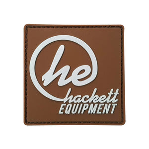Brown ''HE'' Logo Patch