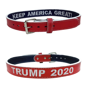Custom Leather Gun Belt by HACKETT Trump 2020 Keep America Great