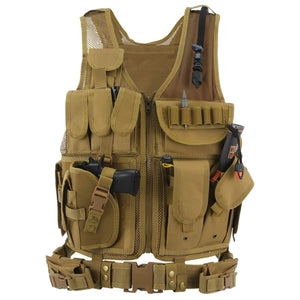 Spec Ops Attack Vest Coyote Tan Front