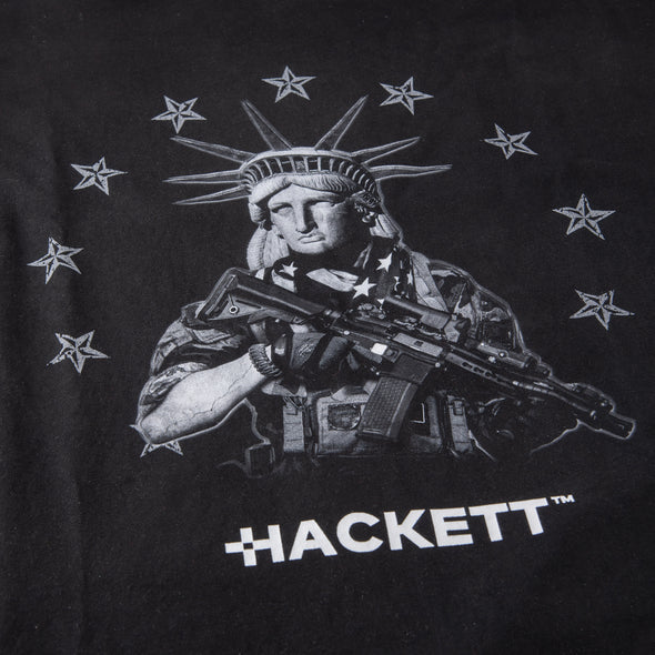 Tactical Statue Of Liberty Premium Embroidered T-Shirt