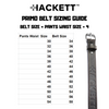HACKETT Primo Leather Gun Belt Size Chart