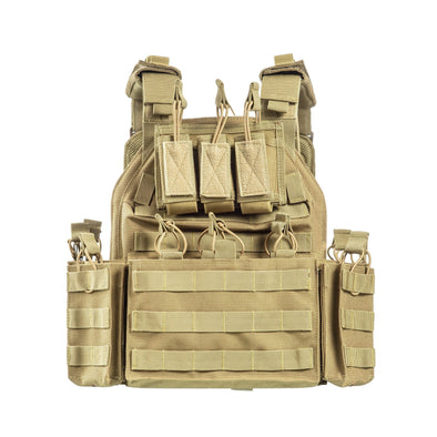 Mission Critical Plate Carrier Coyote Tan Front