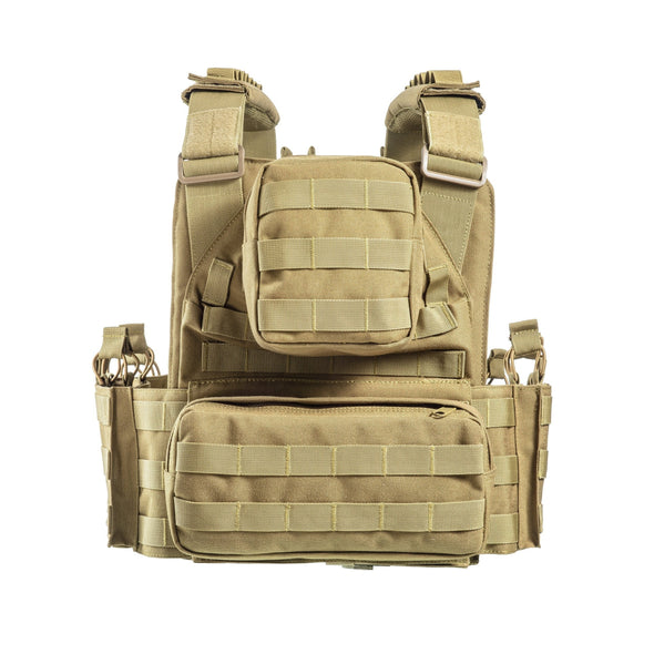 Mission Critical Plate Carrier Coyote Tan Back