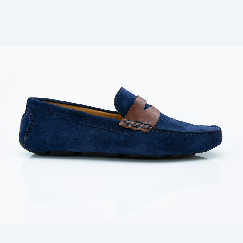 Django- Navy Blue/ Brown
