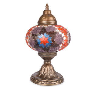 Beautiful Purple/Red Stained Glass Handmade Authentic Turkish Mosaic Lamp