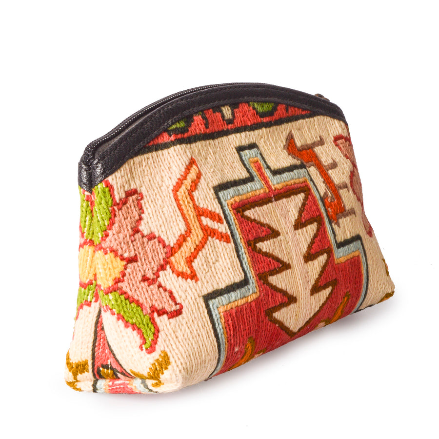 Cute Bohemian Handmade Embroidered Turkish Kilim Purse