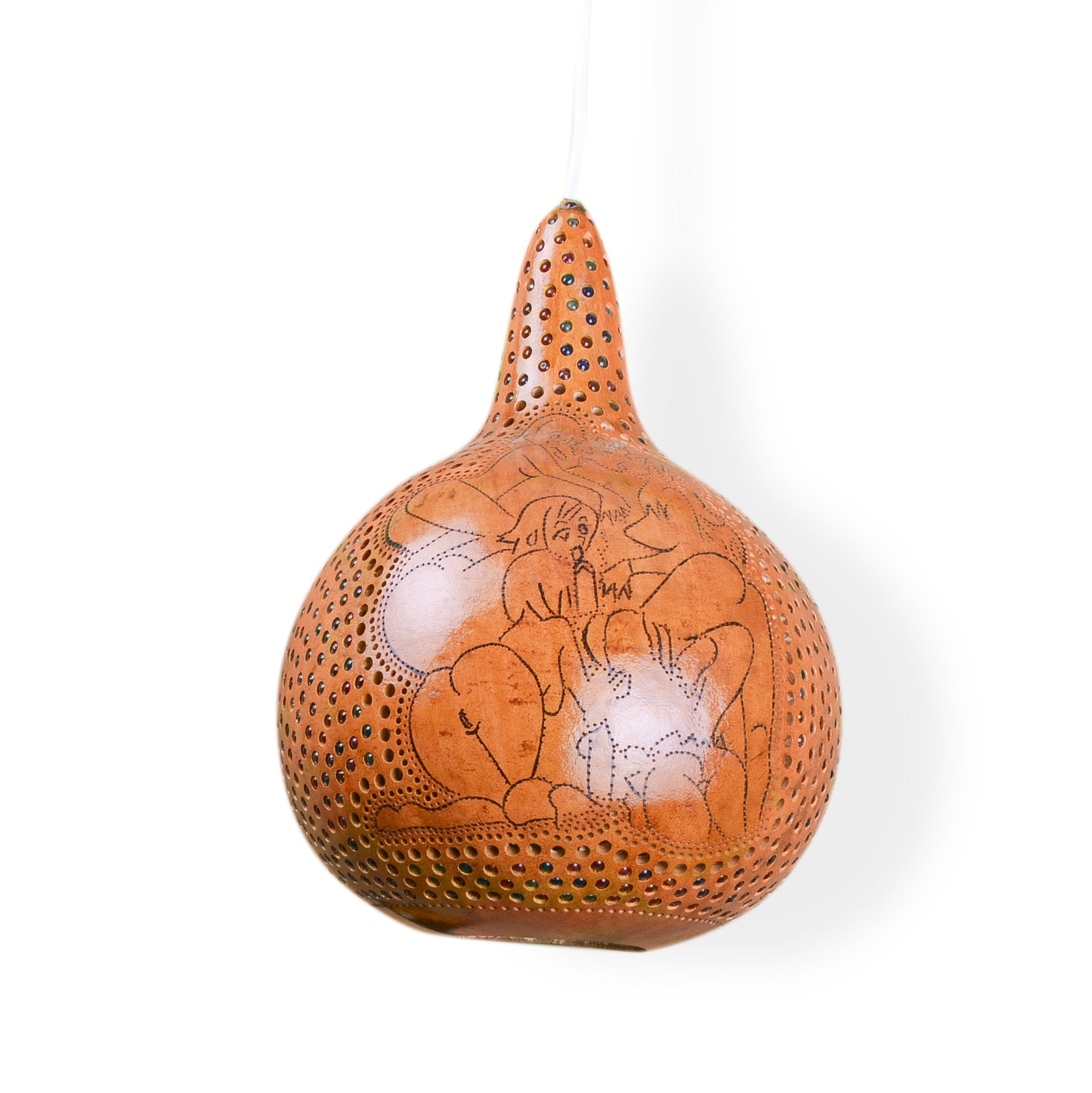 Lost in Amsterdam handmade carved pumpkin lamp kamasutra sexy scene