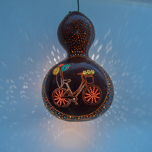 Pumpkin Lamp - Bicycle with Balloons