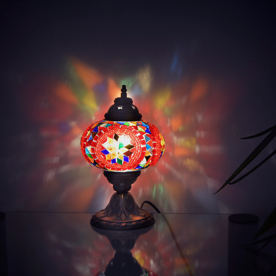 Multicolored Turkish side lamp