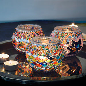 Lost in Amsterdam Original Souvenir Handmade Turkish Candle Holder Stained Glass Beaded Colourful Beautiful