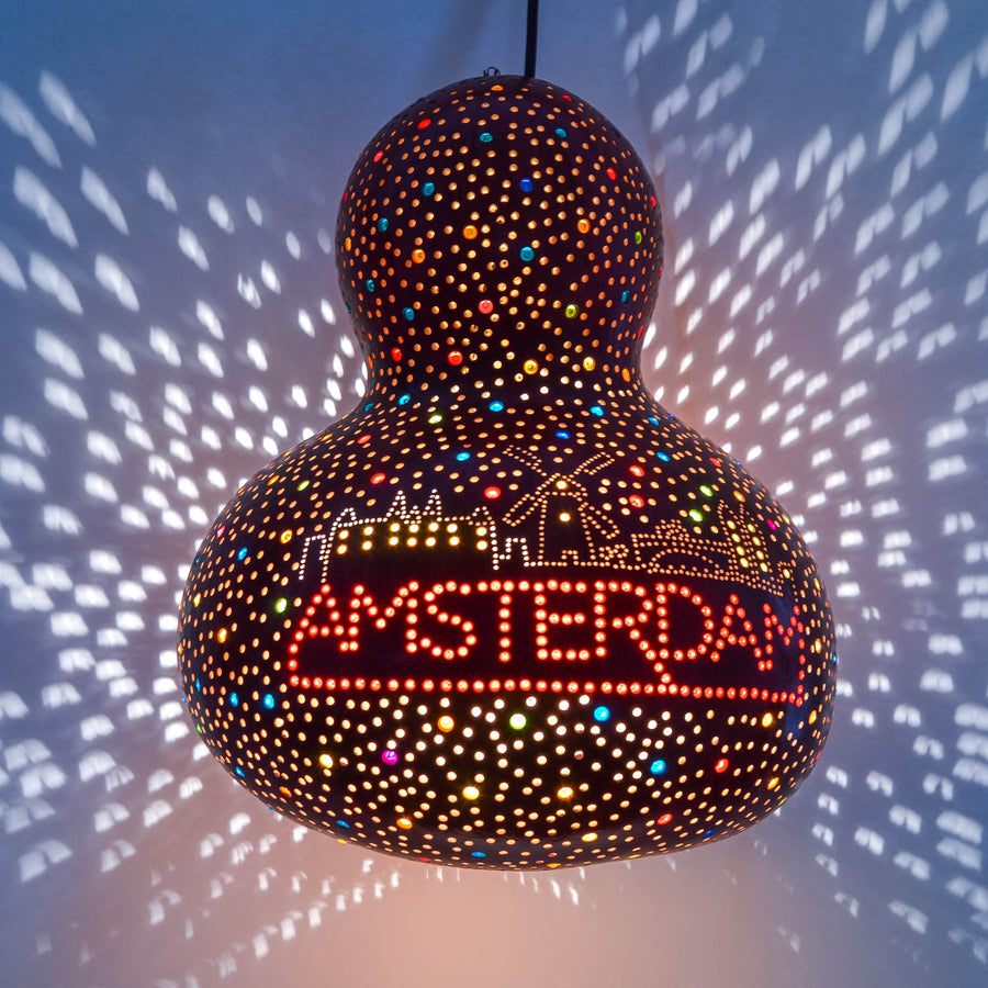 lost in amsterdam handmade pumpkin lamp amsterdam landmarks buildings windmill dutch souvenir
