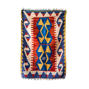 great state Turkish rug | vintage door mat | protection kilim