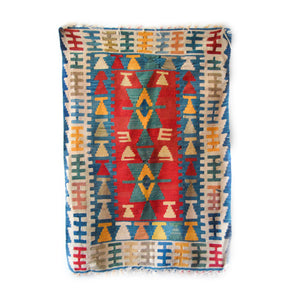 marriage protection rug | Turkish vintage kilim | Handmade Anatolian mat