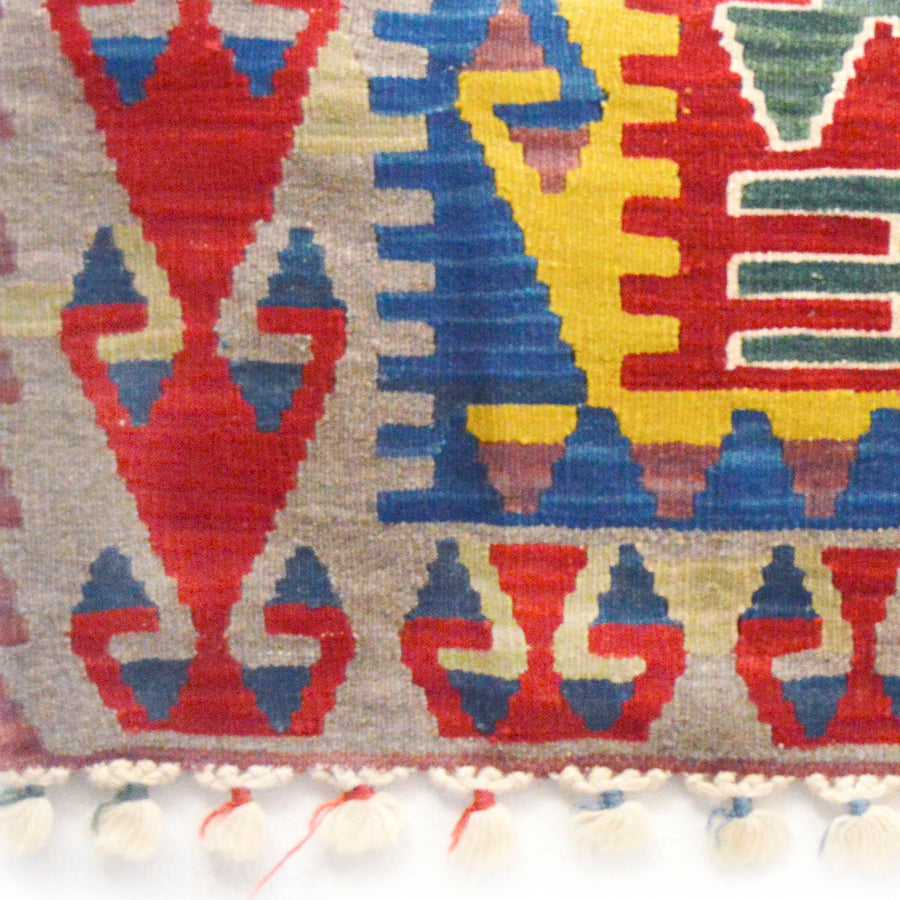 rug scrap ~ Turkish kilim remnant ~ authentic wool rug scrap