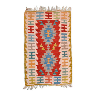 Anatolian kilim with marriage motif