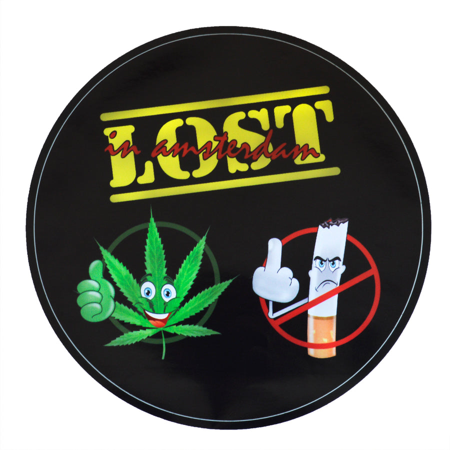 lost in amsterdam | sticker | cannabis YES | no smoking | legalize marijuana