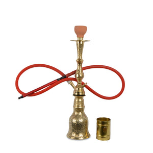 antique brass water pipe | full metal hookah